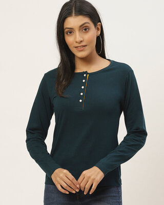 Shop THE DRY STATE Casual Full Sleeve Solid Women Top-Front