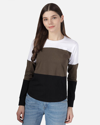 Shop THE DRY STATE Color Block Women Round Neck T-Shirt-Front