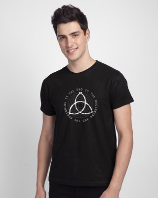 Shop The End Is The Beginning Half Sleeve T-Shirt-Front