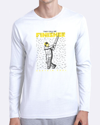 Shop The Finisher MSD Full Sleeve T-Shirt White-Front