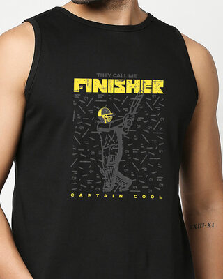 Shop The Finisher MSD Round Neck Vest Black-Front
