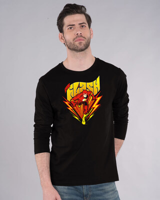 Shop The Flash Front Full Sleeve T-Shirt (FL)-Front