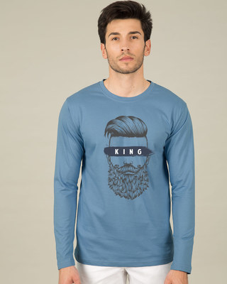 Shop The King Of Beards Full Sleeve T-Shirt-Front