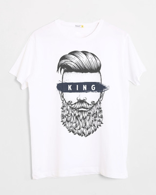 Shop The King Of Beards Half Sleeve T-Shirt-Front