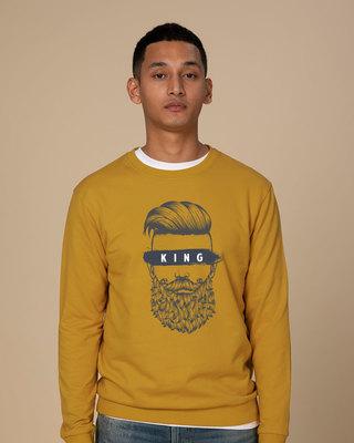 Shop The King Of Beards Sweatshirt-Front