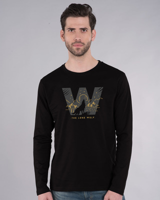 Shop The Lone Wolf Full Sleeve T-Shirt-Front