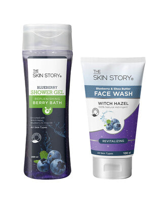 Shop The Skin Story Daily Blueberry Re-vitaliser ( Face wash + body wash )-Front
