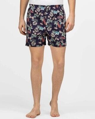Shop thebriefsstory Hawaiian Comfy Cotton Boxer Shorts-Front