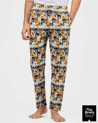 Shop Thebriefsstory WHO LET THE DOGS OUT-PJ-M-Front
