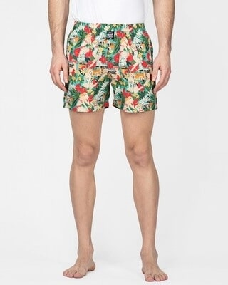 Shop Thebriefstory Tropical Print Boxer-Front