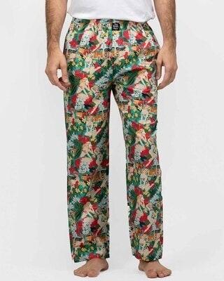 Shop Thebriefstory Tropical Print Pyjama-Front
