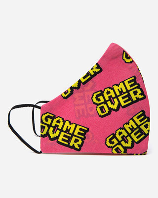 Shop Thebriefstory Unisex Cotton Gameover Mask-Front