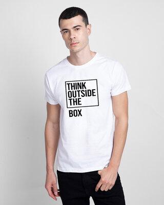Shop Mojotrack Think Outside The Box Unisex Half T-Shirt-Front