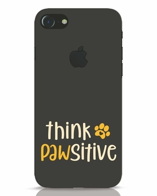 Shop Think Pawsitive iPhone 7 Logo Cut Mobile Cover-Front