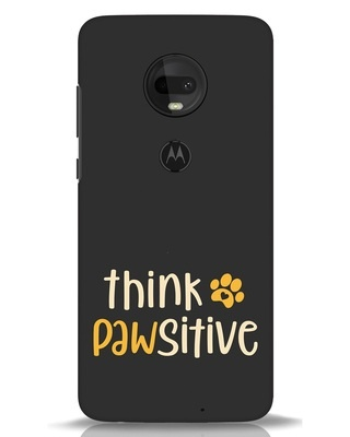Shop Think Pawsitive Moto G7 Mobile Cover-Front