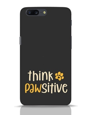 Shop Think Pawsitive OnePlus 5 Mobile Cover-Front