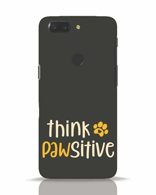 Shop Think Pawsitive OnePlus 5T Mobile Cover-Front