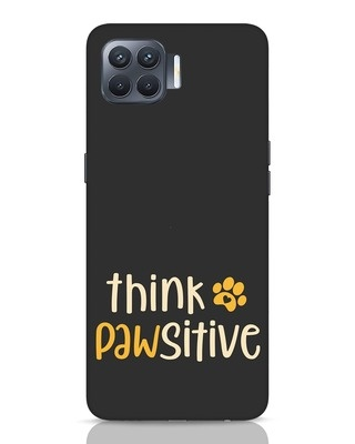 Shop Think Pawsitive Oppo F17 Pro Mobile Cover-Front