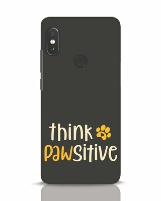 Shop Think Pawsitive Xiaomi Redmi Note 5 Pro Mobile Cover-Front