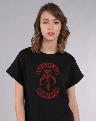 Shop This Is The Way Mandalorian Boyfriend T-Shirt (SWL)-Front