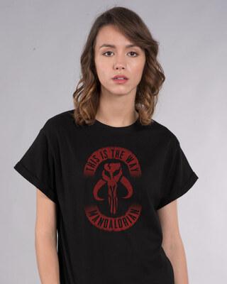 Shop This Is The Way Mandalorian Boyfriend T-Shirt (SWL)-Front