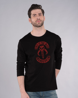 Shop This Is The Way Mandalorian Full Sleeve T-Shirt (SWL)-Front