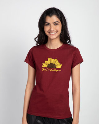Shop This Too Shall Pass Half Sleeve T-Shirt Scarlet Red-Front