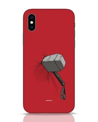 Shop Thor Hammer iPhone XS Mobile Cover-Front
