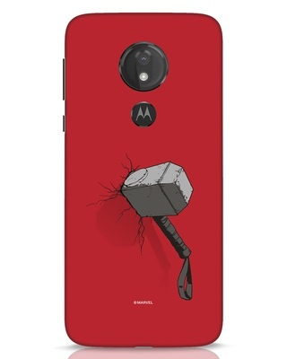 Shop Thor Hammer Moto G7 Power Mobile Cover-Front