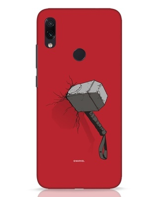 Shop Thor Hammer Xiaomi Redmi Note 7 Pro Mobile Cover-Front