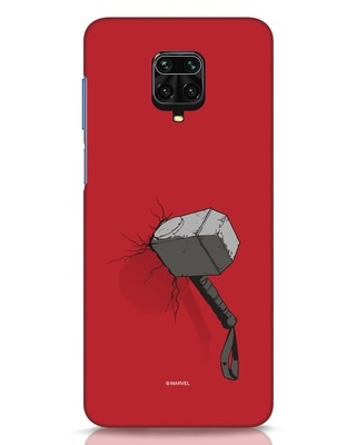 Shop Thor Hammer Xiaomi Redmi Note 9 Pro Mobile Cover-Front