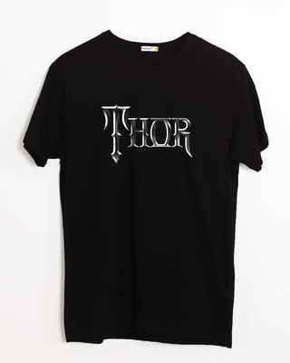 Shop Thor Typo Half Sleeve T-Shirt (AVL)-Front