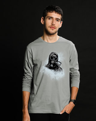 Shop Through The Smoke Full Sleeve T-Shirt-Front