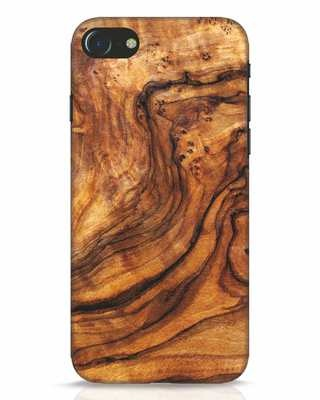 Shop Timber Texture iPhone 7 Mobile Cover-Front
