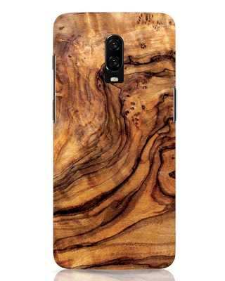 Shop Timber Texture OnePlus 6T Mobile Cover-Front