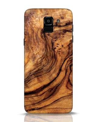 Shop Timber Texture Samsung Galaxy J6 Mobile Cover-Front