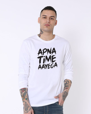 Shop Time Aayega Full Sleeve T-Shirt-Front