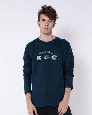 Buy Time To Travel Full Sleeve T-Shirt Online India @ Bewakoof.com