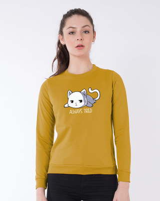 Shop Tired Always Sweatshirt-Front