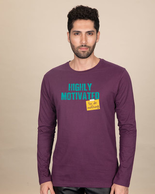 Shop To Do Nothing Full Sleeve T-Shirt-Front