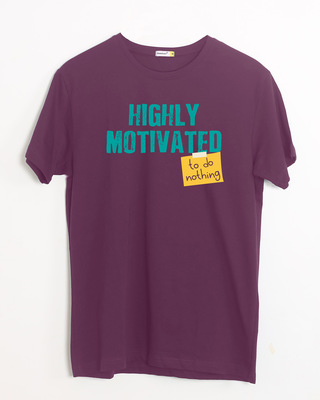 Shop To Do Nothing Half Sleeve T-Shirt-Front