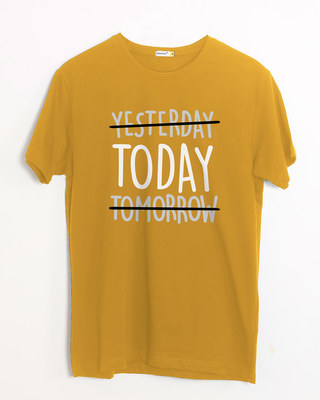 Shop Today Yesterday Tomorrow Half Sleeve T-Shirt-Front
