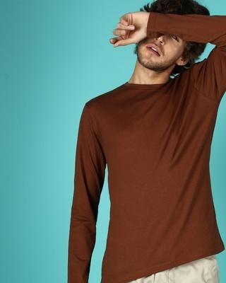 Shop Killer Brown Full Sleeve T-Shirt-Front
