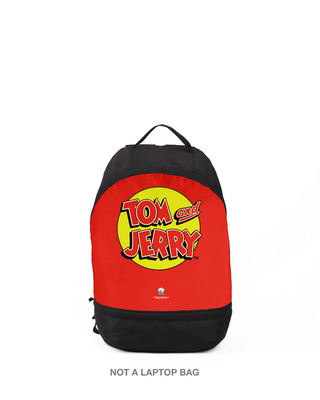 Shop Tom & Jerry Logo  Printed Small Backpack (TJL)-Front