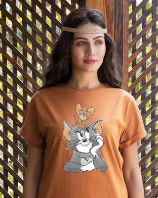 Shop Tom And Jerry Boyfriend T-Shirt (TJL)-Front
