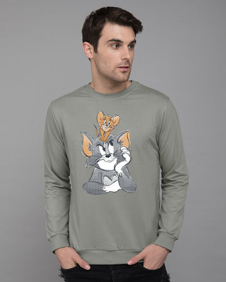 Shop Tom And Jerry Fleece Sweater (TJL)-Front