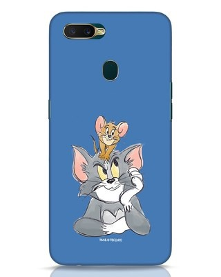 Shop Tom And Jerry Oppo A7 Mobile Cover (TJL)-Front