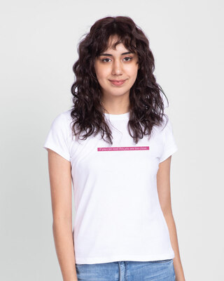 Shop Too Close Half Sleeve Printed T-Shirt White-Front
