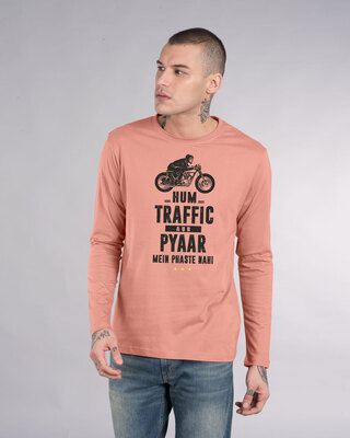 Shop Traffic Aur Pyaar Full Sleeve T-Shirt-Front