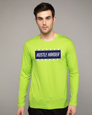 Shop Train And Hustle Full Sleeve T-Shirt-Front